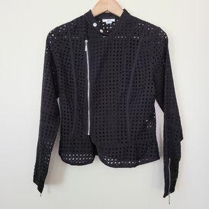 Bar III black crochet jacket M